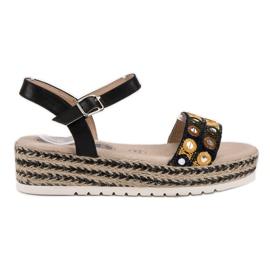 SHELOVET negru Sandale pe platformă