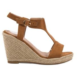 Anesia Paris maro Moda sandale cu pană