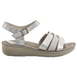 Evento gri Sandale de argint