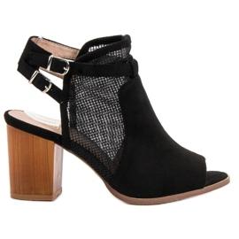 Evento negru Clădiri elegant cu sandale