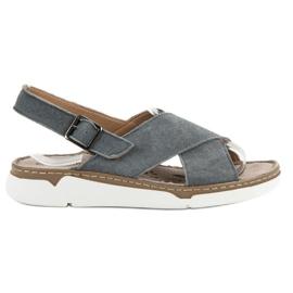 Filippo gri Sandale din piele pe platformă