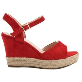 Bello Star roșu Sandale Espadrilles