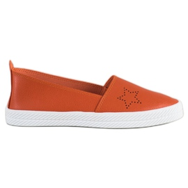 Kylie portocaliu Alunecare pe pantofi