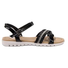 Groto Gogo Sandale Cu cristale negru