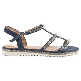 GUAPISSIMA Sandale cu perle albastru