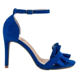 Kylie albastru Sandale pe un pin cu un Frill