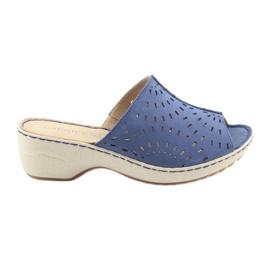 Cizme papurice pentru femei Caprice 27351 blugi albastru
