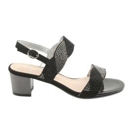 Sandale pe postul de Sergio Leone SK795 negru