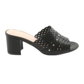 Negru Papuci negre pentru femei Sergio Leone KL319