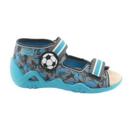 Pantofi pentru copii Befado galbeni 350P001 albastru gri