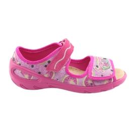 Pantofi pentru copii Befado pu 433X030 verde galben roz