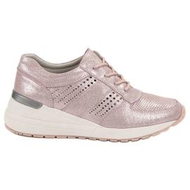 Filippo roz Pantofi de piele din piele