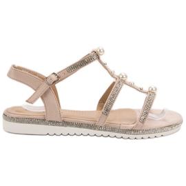 GUAPISSIMA Sandale cu perle roz