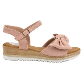 Bello Star roz Sandale cu arc
