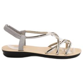 Camo gri Slip-sandale cu bandă elastică