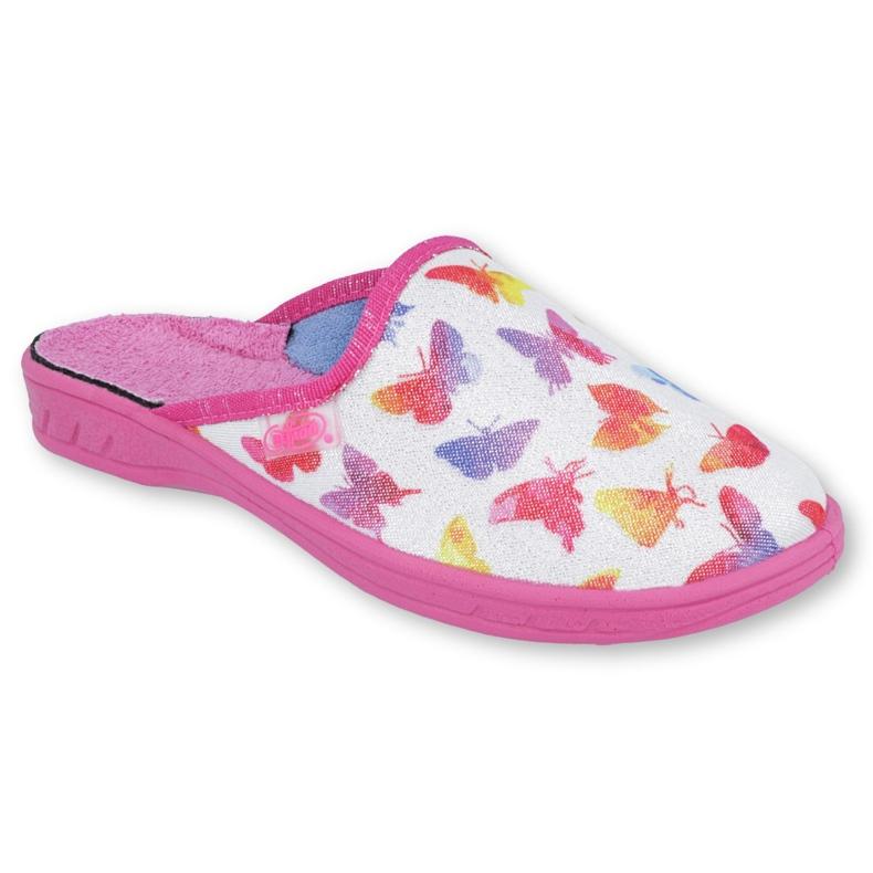 Încălțăminte pentru copii Befado colorată 707Y400 alb roz