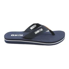 Big Star bleumarin Big flip-flops de culoare albastră