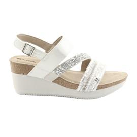Sandale pliate INBLU EN009 argint