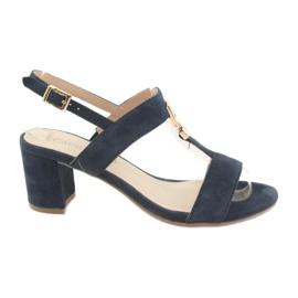 Sandale pe postul Caprice 28303 albastru maroniu bleumarin
