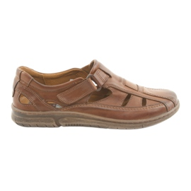Maro Riko 458 sandale de confort pentru barbati bruni