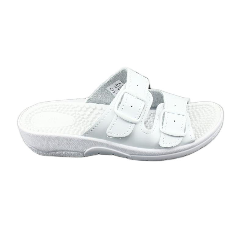 Flip flops de sănătate albă Comfooty Nadia