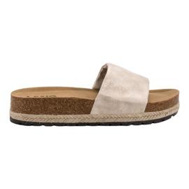 Kylie maro Pantofi strălucitori de bej