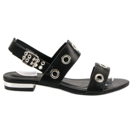 Kylie negru Casual Sandale Negre