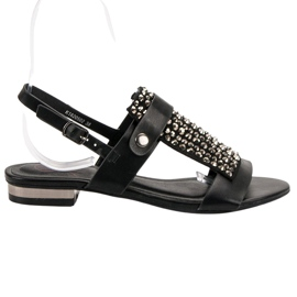 Kylie negru Sandale pentru femei negre
