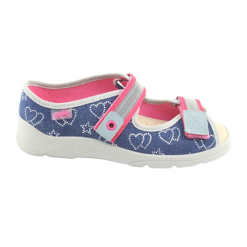 Încălțăminte pentru copii Befado 869Y134 gri roz albastru marin