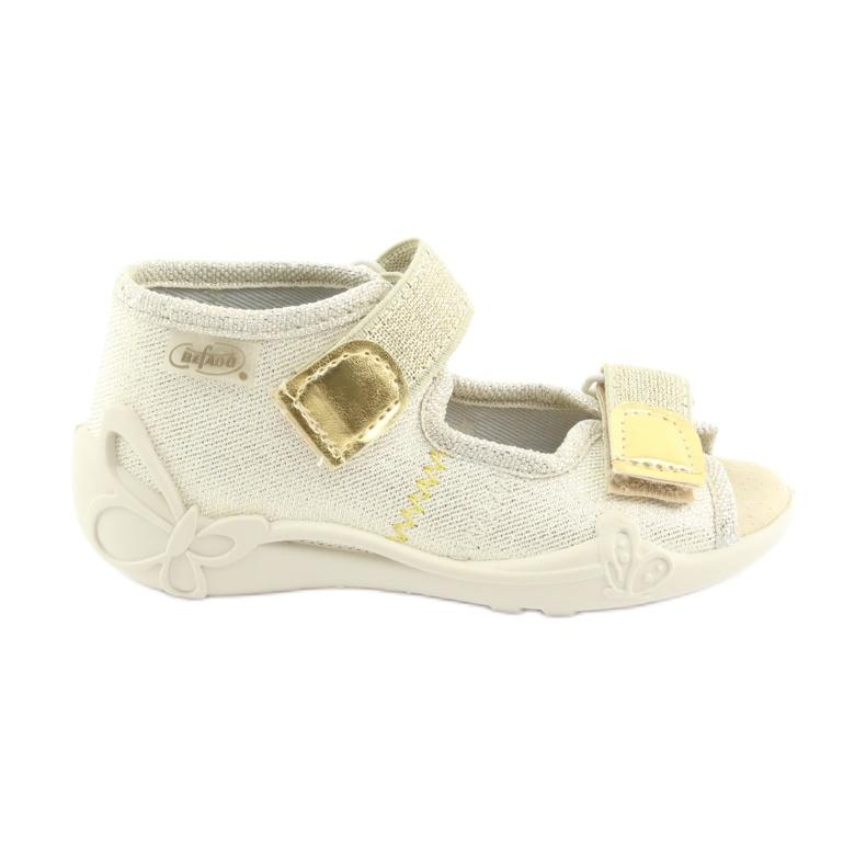 Pantofi pentru copii Befado galbeni 342P003 maro