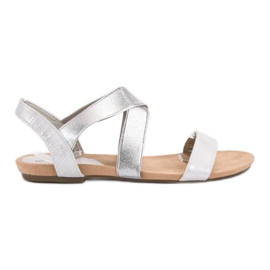 Evento gri Slip-sandale cu bandă elastică