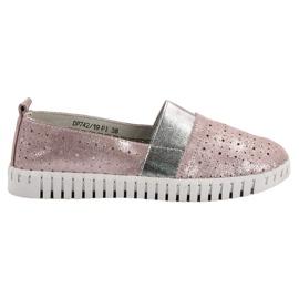 Filippo roz Slip-on încălțăminte cu Brocade