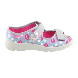 Încălțăminte pentru copii Befado 969Y133 roz gri