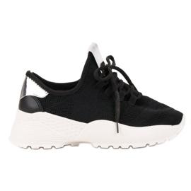 Vices negru Pantofi sport textile