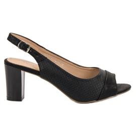 Evento negru Sandale negre elegante
