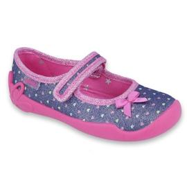 Încălțăminte pentru copii Befado 114X357 albastru marin roz