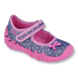 Încălțăminte pentru copii Befado 109P194 albastru marin roz multicolor