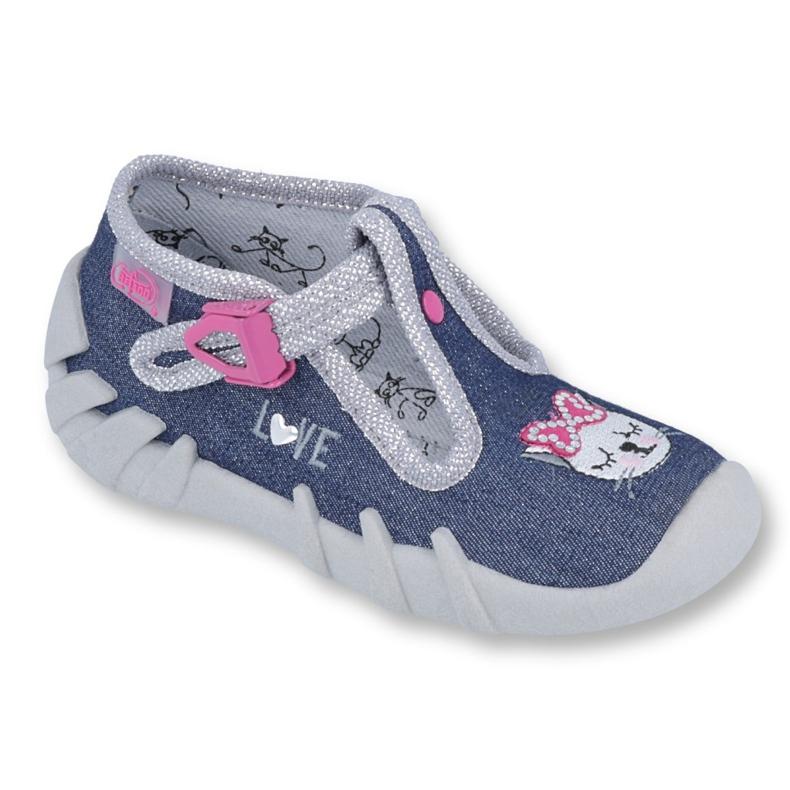 Încălțăminte pentru copii Befado 110P361 albastru marin roz multicolor