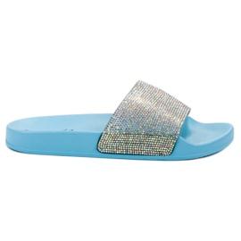 Bello Star albastru Papuci cu cristale