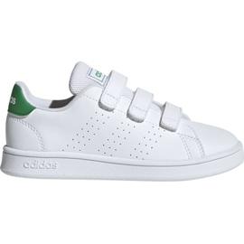 Alb Adidas Advantage C Jr pantofi EF0223