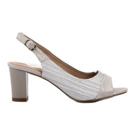Evento gri Sandale de argint elegante