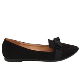 Black balerine pentru femei 8F59 Negru