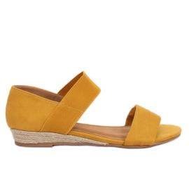 Sandale espadrile galben 9R71 galben