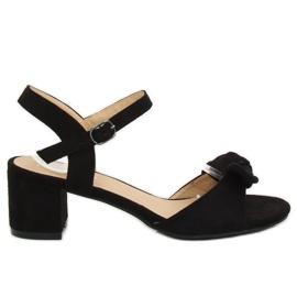 Pantofi negri înalt FH-3M22 Negru