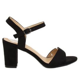 Sandale pe post negru FH-3M25 Negru