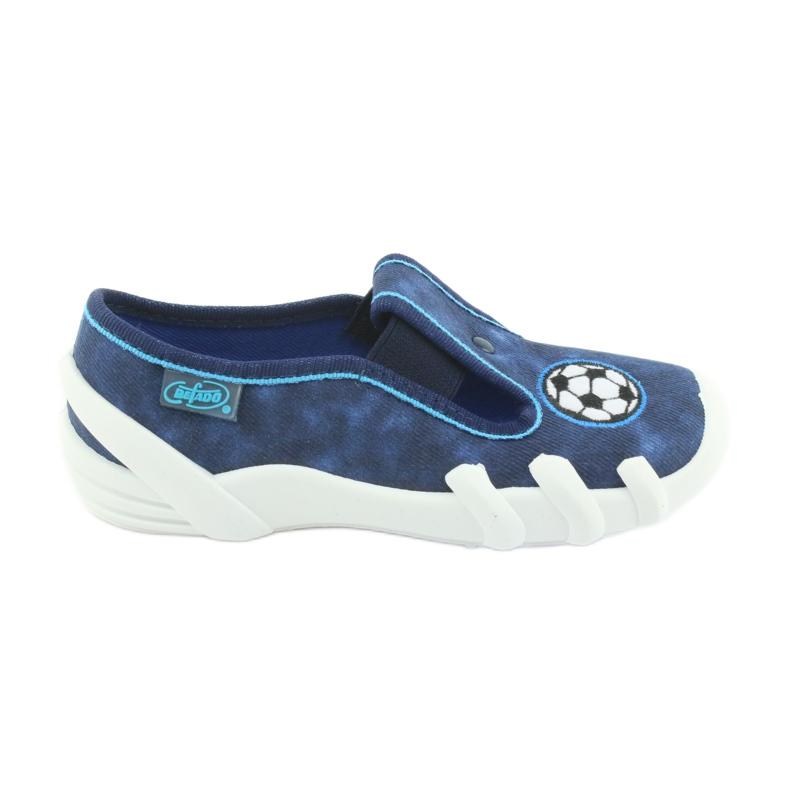 Pantofi pentru copii Befado 290X169 alb albastru marin albastru