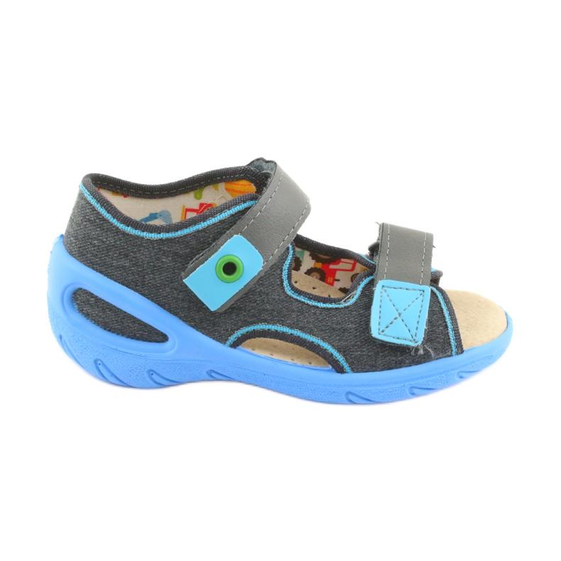 Pantofi pentru copii Befado pu 065P125 albastru gri