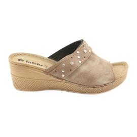 Papuci pentru femei Inblu OS007 maro
