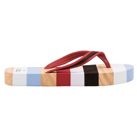Ax Boxing Flip-flops pe platformă multicolor