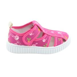 Pantofi pentru copii American Club cu velcro roz TEN 32/19 alb